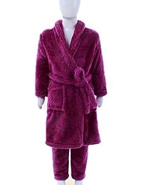 Bambino Camicia da notte accappatoi Autunno Inverno Boy Ragazza bella ispessimento della camicia da notte di cotone...