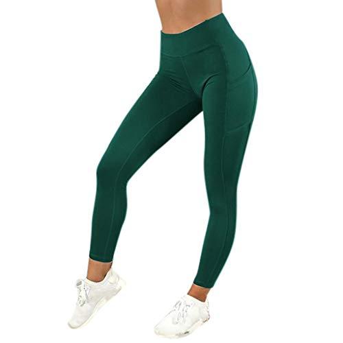 SHOBDW Pantalones Mujer Sólido Push Up Leggings Medias