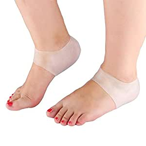 HealthyNeeds YOSOO 1Pair Soft Silicone Moisturizing Gel Heel Socks Cracked Foot Skin Care