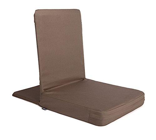 t gepolsterter Rückenlehne, Meditationsstuhl mit extra-dickem Sitzkissen (XL, clay) ()