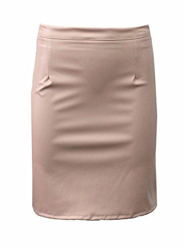 Mescolare lot donne, signora-reizvolles Faux-pelle-MIDI con zipper Celebrity inspired formale elegante formato 36-42 nackt