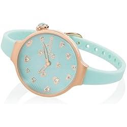 HOOPS Uhren Icon Hearts Damen Uhrzeit Cyan - 2562LL-04