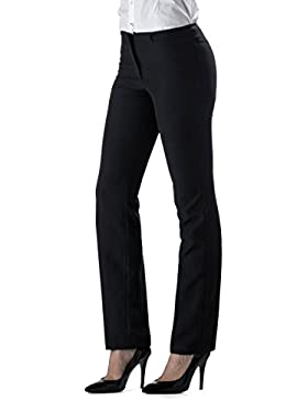 Pantalone Da Donna Nero Modello TREND - Made in Italy - 100% Poliestere Antimacchia/Antistiro - Perfetto per il...