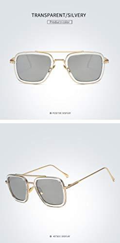 GYBTYJDD Sonnenbrille mit UV-Schutz, Sonnenbrille in Schachtelform, großer Strandspiegel im Rahmentrend, Herren- und Damenbrillen, modische Schutzbrille, A4