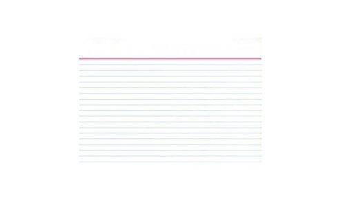 Idena 375037 - Karteikarten DIN A7, liniert, 100 Stück, 180 g/m², weiß