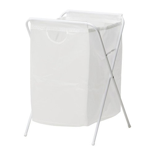 IKEA JALL - Laundry bag with stand, white - 70 l