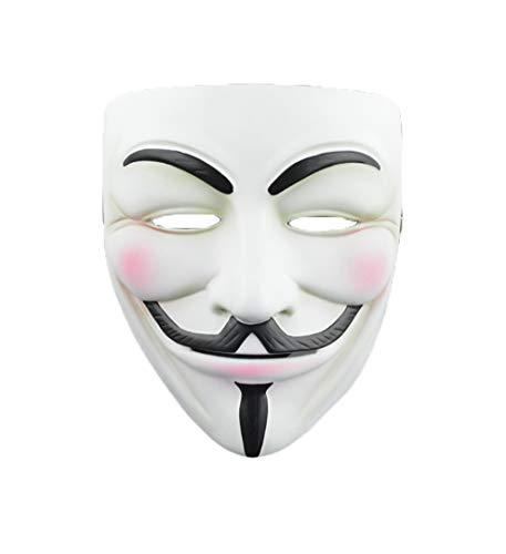 Cradifisho Halloween-Maske Vendetta-Maske aus Kunstharz, V-Formen-Maske aus Harz, Maske der Prominente, Halloweenmaske, Karneval, Weihnachten, Ostern, Masken-Kollektion