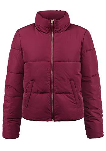 ONLY Padma Damen Steppjacke Übergangsjacke Jacke Mit Stehkragen, Größe:XL, Farbe:Red Plum