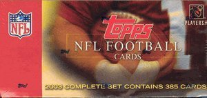 2003 Topps Factory Set Football Cards Unopened Hobby box - Carson Palmer & Larry Johnson Rookie Year by