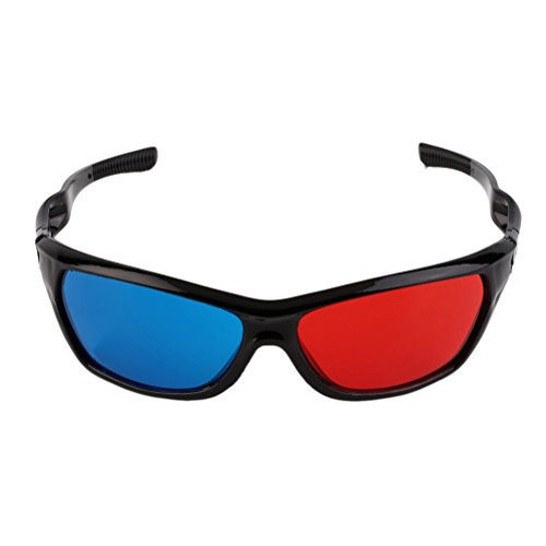 NUOLUX Passive 3D-Brille für Kinder, universell für Passive TV Cinema (rot + blau)