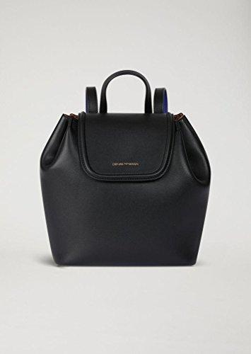 Emporio Armani Rita Eco Leather Backpack One Size BLACK