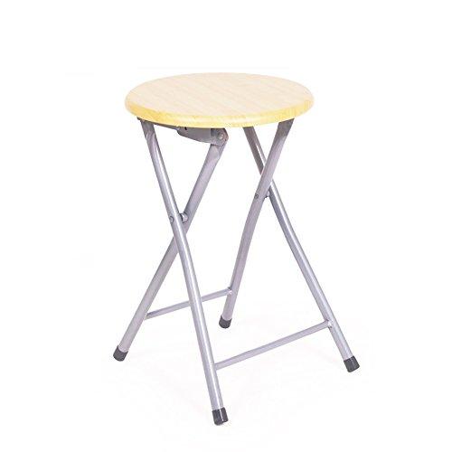 Hochstuhl Einfacher Klappstuhl / Schulung Konferenzstuhl / Rohr kleinen Hocker / Esszimmer Stuhl Hocker / Mode Rückenlehne Stuhl / Runde Hocker / Klappstuhl / (2 Farben optional) ( farbe : A )