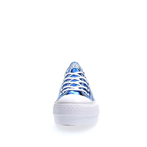 CONVERSE 556786C CT OX PLATFORM METALLI BLUE SNEAKERS Femme blue
