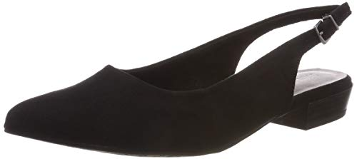 Tamaris Damen 1-1-29403-22 Slingback Ballerinas, Schwarz (Black Suede 4), 40 EU - Sling Schwarz Schuhe