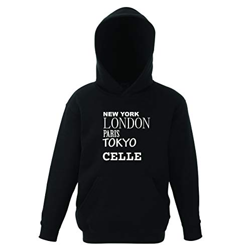 JOllify CELLE Kinder Pullover Pulli Hoodie - Design: New York, London, Paris, Tokyo - Größe: 164 - 14-15 Jahre