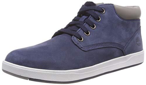 Timberland Unisex-Kinder Davis Square Leather Chukka Boots, Blau (Black Iris), 38 EU