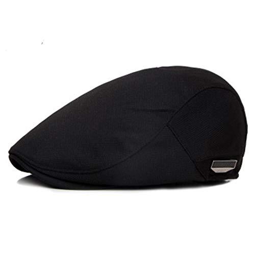 AROVON Caps Fashion Flat für Männer Hut Unisex Baskenmütze Kappe Frauen Sommer Casual Sun Breathable Hats Black Berets