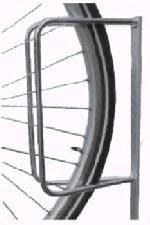 FAHRRADPARKER MIT SCHLAGPFLOCK. 75cm