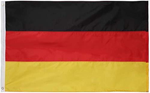 Deutschland Flagge Oxford 210D Heavy Duty Nylon (91x152 cm) 3x5 Ft-genähte Einsätze, langlebig und langlebig 4 Stitch Hemming. Lebendige Farben und lichtbeständig. Deutsche Flagge ()