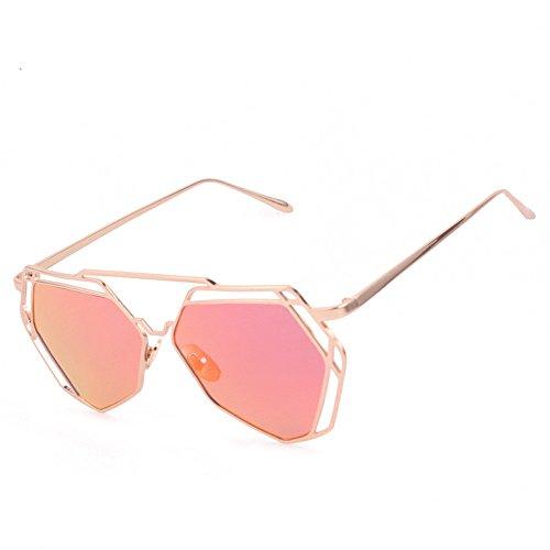 YWLINK Retro Sonnenbrille Strand Urlaub Multicolor Polygon Brille Mode Klassisch Damen Herren...