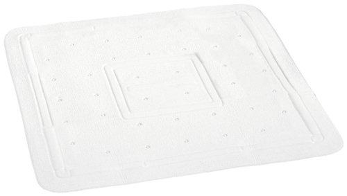 Wenko 3210401100 Florida – Alfombrilla antideslizante de plástico con ventosas para ducha (55 x 55 cm), color blanco