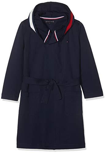 Tommy Hilfiger Bathrobe Bata de baño, Azul (Navy Blazer 416), Small para Niños