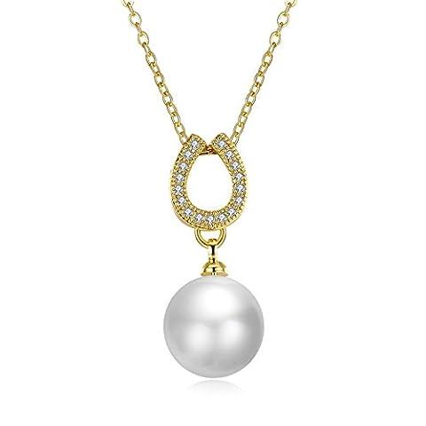 AnaZoz Collier Femme Fantaisie Cuivre U Connecting Perle