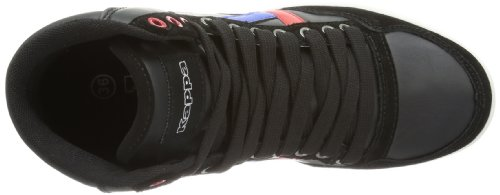 Kappa KOREA II MID 241692 Unisex-Erwachsene Sneaker Schwarz (BLACK/RED 1120)