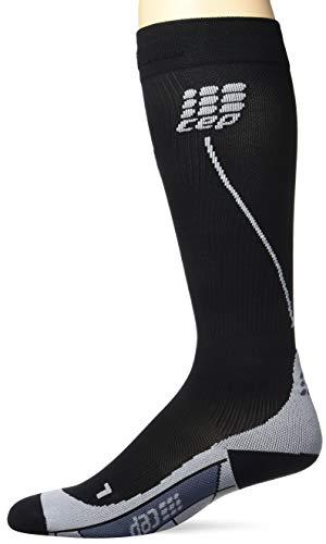 CEP - RUN SOCKS 2.0, Laufsocken lang für Herren, schwarz / grau in Größe IV, Kompressionsstrümpfe made by medi - Herren Kompression Socken