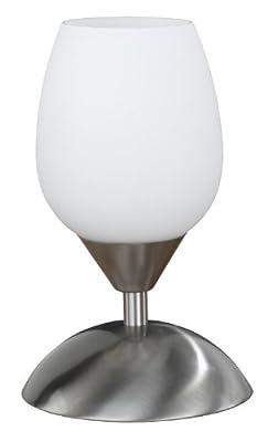 Wofi Tischleuchte-Flame, 1-flammig, Nickel-matt, Höhe-21 cm, 814101640500 von WOFI LEUCHTEN bei Lampenhans.de