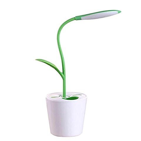 Lampe de Table LED Moderne pour Lecture ou Bureau-Flexible & Rechargeable vert