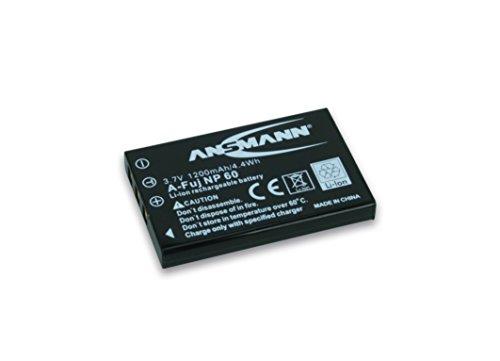 Ansmann 5022273/05 - A-Fuj NP 60 Li-Ion, batería 3,7V/1200mAh para cámara digital de fotos Fuji