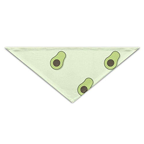 Sdltkhy Green Avocado Fruit Pattern Dog Bandanas Scarves Triangle Bibs Scarfs Novelty Basic Neckerchief Cat Collars Pet Costume Accessory Kerchief for Large&Medium&Small Puppy