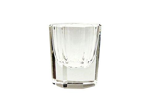 Vaso copa de vidrio para líquido acrílico - uñas de acril - manicur