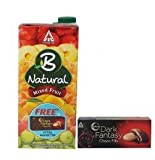 #10: B-natural Fruit Juice, Mixed Fruit, 1000ml with Free Dark Fantasy Chocofills, 75g