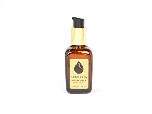 Huile de camélia Premium - 50ml - Soin du corps naturel, le visage et les cheveux - 100% pure - Fabriqué en Europe
