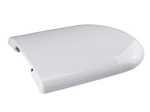 Saniplast luna 2 sedile wc, resina termoindurente, bianco, 45.7x36.8x5.8 cm