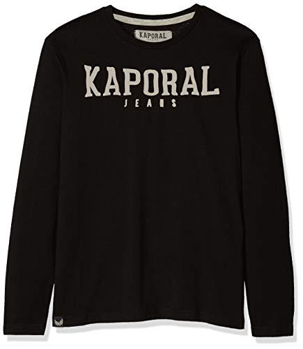 Kaporal MESSO, Top à Manches Longues Garçon, Noir Black, Taille Fabricant: 04A