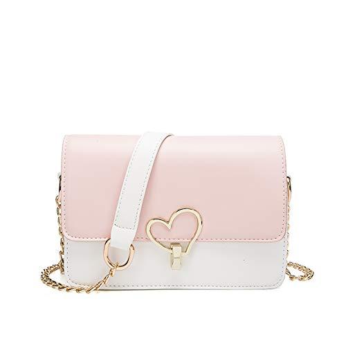 Umhängetasche - Summer Joker Chain One Shoulder Fashion Tasche Pink + Weiß
