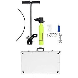 Cylindre à oxygène réglable Réservoir à oxygène portable pour la plongée sous-marine avec pompe à air haute pression Kit de plongée avec régulateur de sac pour respirateur pour plongée sous-marine