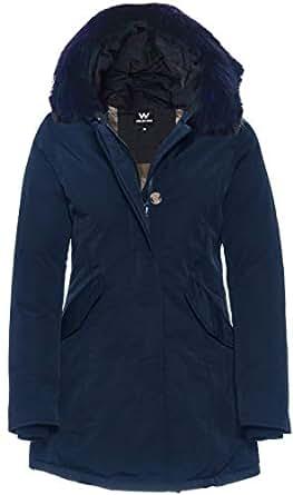 Bild nicht verfügbar. Keine Abbildung vorhanden für. Farbe  Basic.de Damen-Parka  Echtfell Winter-Jacke ... 63b0f9a6b8
