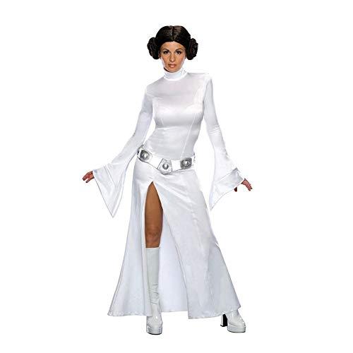 Leia Perücke Prinzessin Kostüm Mit - Prinzessin Leia Kostüm für Damen Star Wars - Größe S