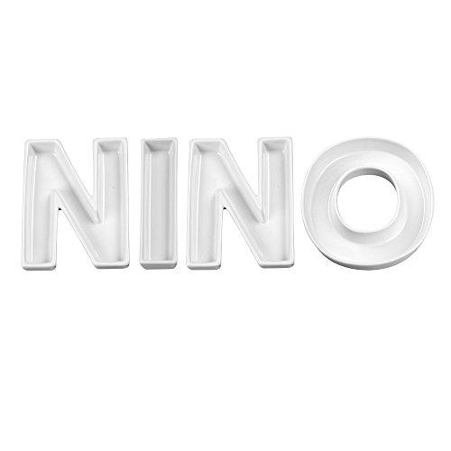 Ivy Lane Design Nino Word Dishes, Weiß -
