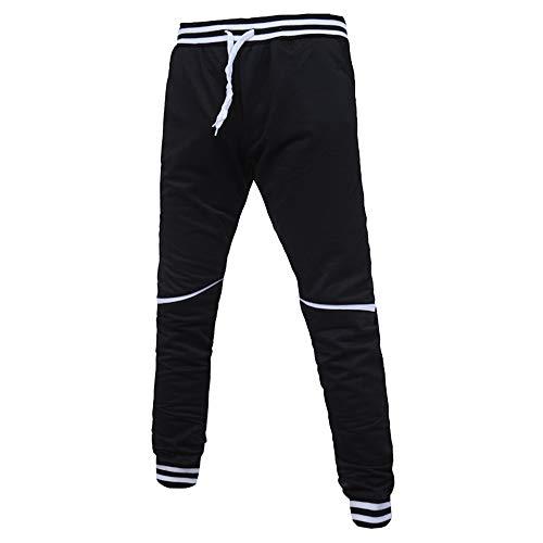 Dorical Jogginghose Herren Jogginganzug Jogger Männer Trainingsanzug Baumwolle Jungen Slim Fit Loom Freizeithose mit elastischem Beinabschluss Originals Pant Sweatpants Sporthose(Schwarz B,XXX-Large) -