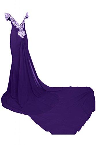 Sunvary donna elegante, per abiti da sera o da cerimonia, con fodero Off-The-spalla, con lacci Lavender