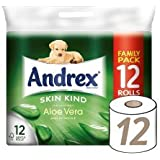 Andrex Papier Toilette 12rouleau à l'aloe vera (Lot de 4, Total 48rouleaux)