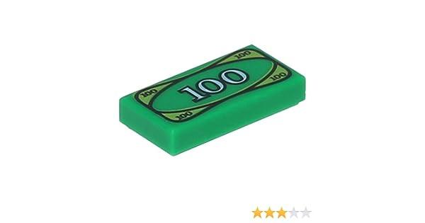LEGO®  City  Euro Geld Dollar 1x2 Fliese 100 Euro 2 Stück
