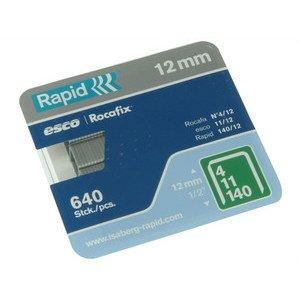 Outifrance - Agrafes N° 4 - 140, 12 mm, carte de 640 Rapid