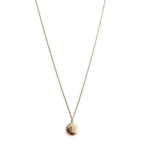 HONEYCAT Andenken-Medaillon-Halskette in 24 Karat Gold-Platte | Minimalistische, Empfindliche Schmuck (G) (Schmuck Medaillons Gold)