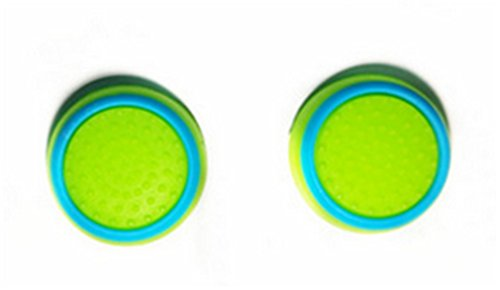 Stillshine prise de pouce thumb grip silicone caps pour PS2, PS3, PS4, Xbox 360, Xbox One, Wii U Manette (2pc) (Blue green)